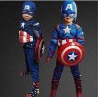 Captain America Costume Avengers Child Cosplay HALLOWEEN PARTY CARNIVAL SUPPLY Kids Superhero Costume