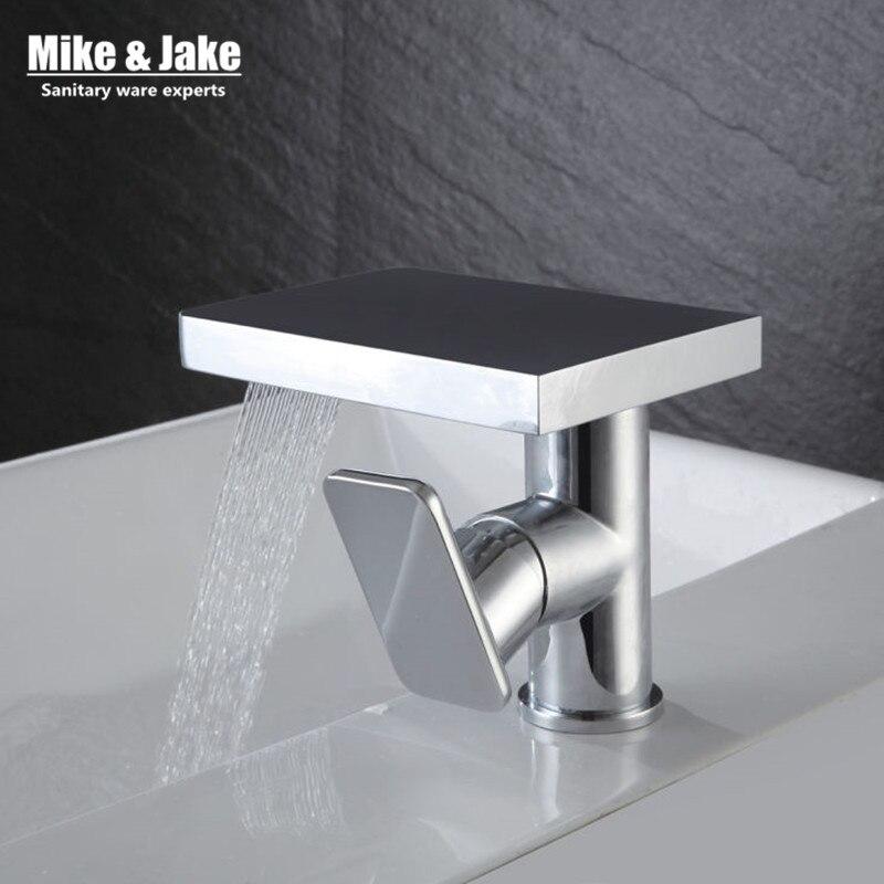 Waterfall bathroom Faucet square basin faucet bathroom crane faucet basin mixer bathroom torneira faucet water tap mixers infos bathroom led waterfall water tap