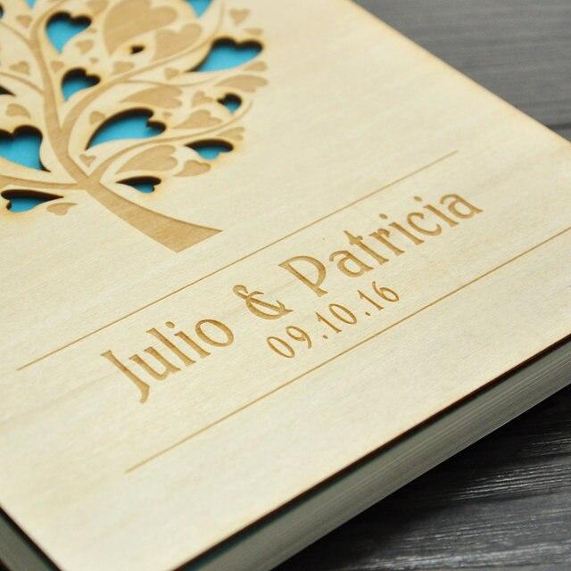 Online Shop Anniversary Valentine Gift Custom Wood guestbook Wedding ...