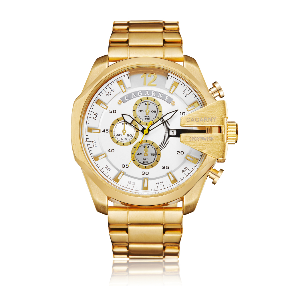 top luxury brand cagarny quartz watch for men gold steel band waterproof dz military Relogio Masculino mens watches drop shipping clock man cheap price (21)