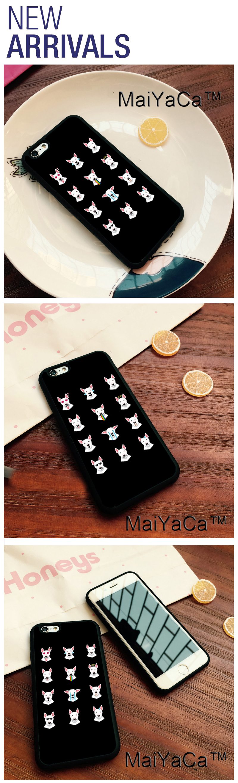 MaiYaCa Funny Bull Terrier Emoji Phone Cases For IPhone 6 Case Phone Back  Cover For Apple IPhone 6 6s Phone Case Soft TPU Capa