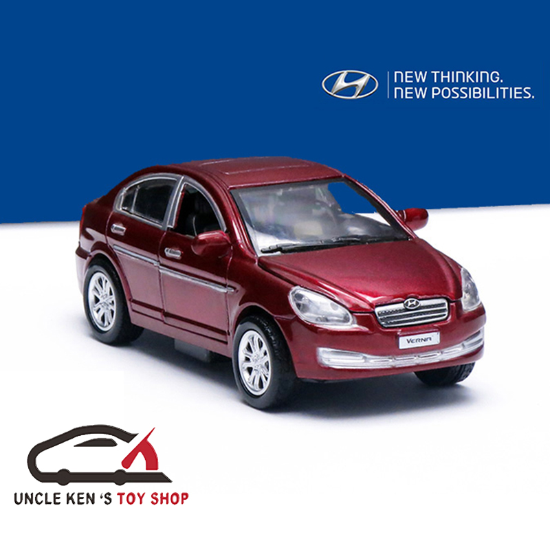 Hyundai Verna Diecast Model Prelica Car Toys For Promotions To Boys With Gift Box