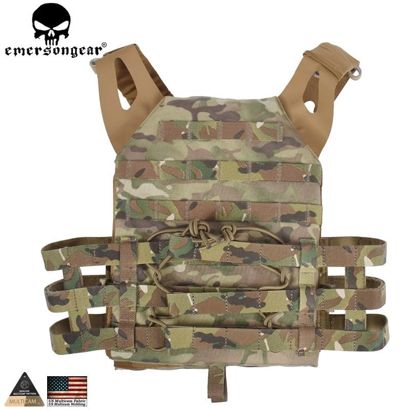 EMERSONGEAR Tactical Vest MOLLE JPC Vest Airsoft Paintball Molle Vest Chest Protective Plate Carrier Multicam Combat