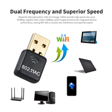 Robotsky 1200M Wireless Network Card Dual Band USB 3.0 Wifi Lan Aadapter 802.11ac
