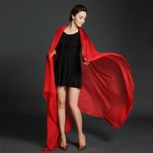 цены 100% Real Silk Muslim Hijab Long Scarf Cappa Beach Sunscreen Plus Size 180*90 cm Wrap Soft Scarves Tippet Women Red Cape Shawl