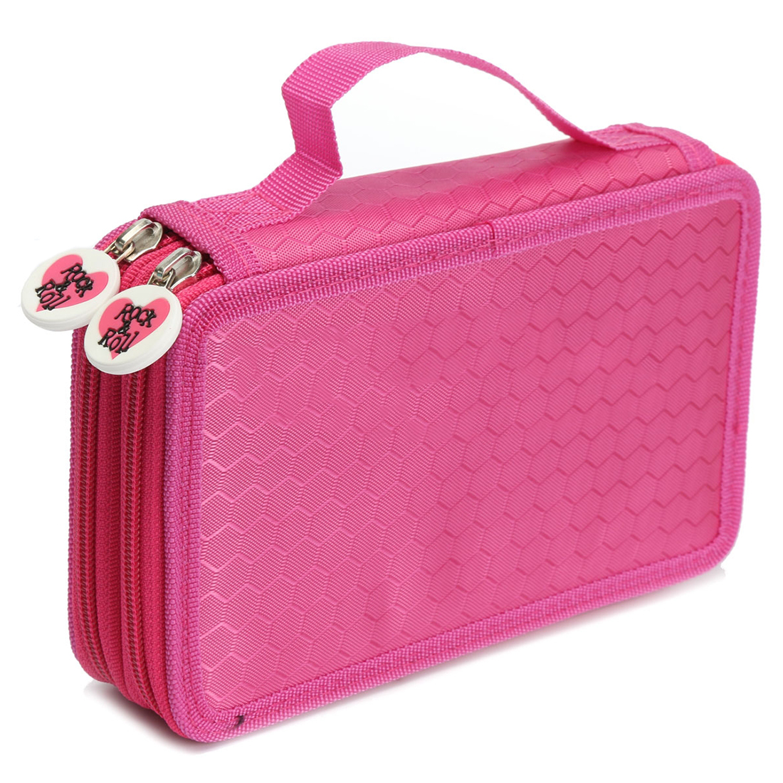 1pcs 32 holes High Capacity Holder Stationary Pencil Case Pen Box Storage Bag New, 2 Layers,6color big capacity high quality canvas shark double layers pen pencil holder makeup case bag for school student with combination coded lock