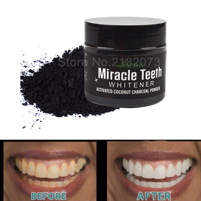 Miracle Teeth Whitener 20g Activeted Charcoal Tooth Whitening Powders Stain Remove Oral Hygiene Teeth Whitening Natural Powder