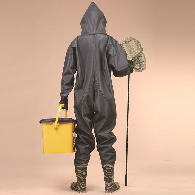 Image 3 - Waterproof warm body linked outdoor wading pants,environmental protection,70 wire knitted fabric,whole body trousers Custom logo-in Storage Bags from Home & Garden