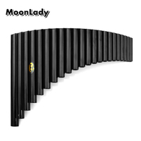 22 Pipes Pan Flute G Key ABS Plastic Musical Instruments Black Color Woodwind Instrument Chinese Traditional Pan Pipes