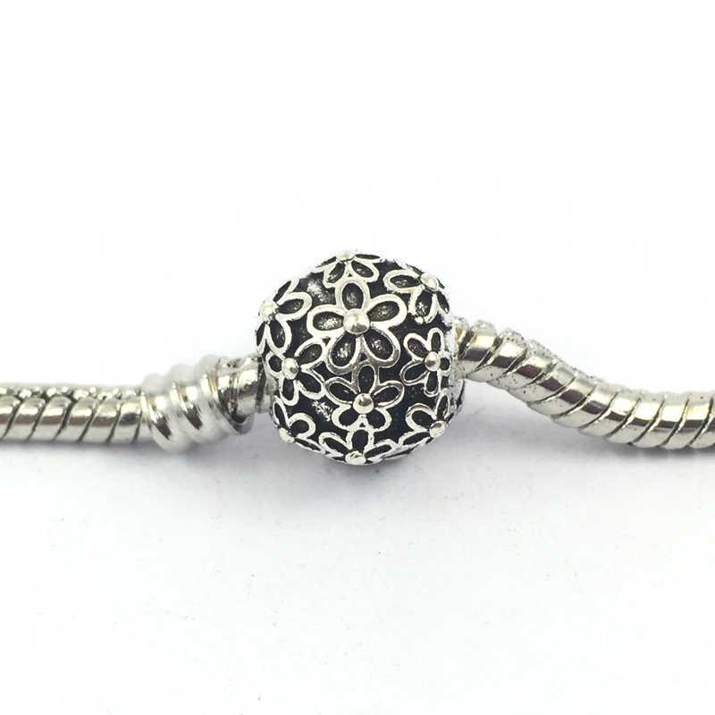 1dde4ba0c ... Free Shipping New Flowers Clips Locks Beads Stopper Charm European  Beads Fit Pandora Charms Bracelets ...