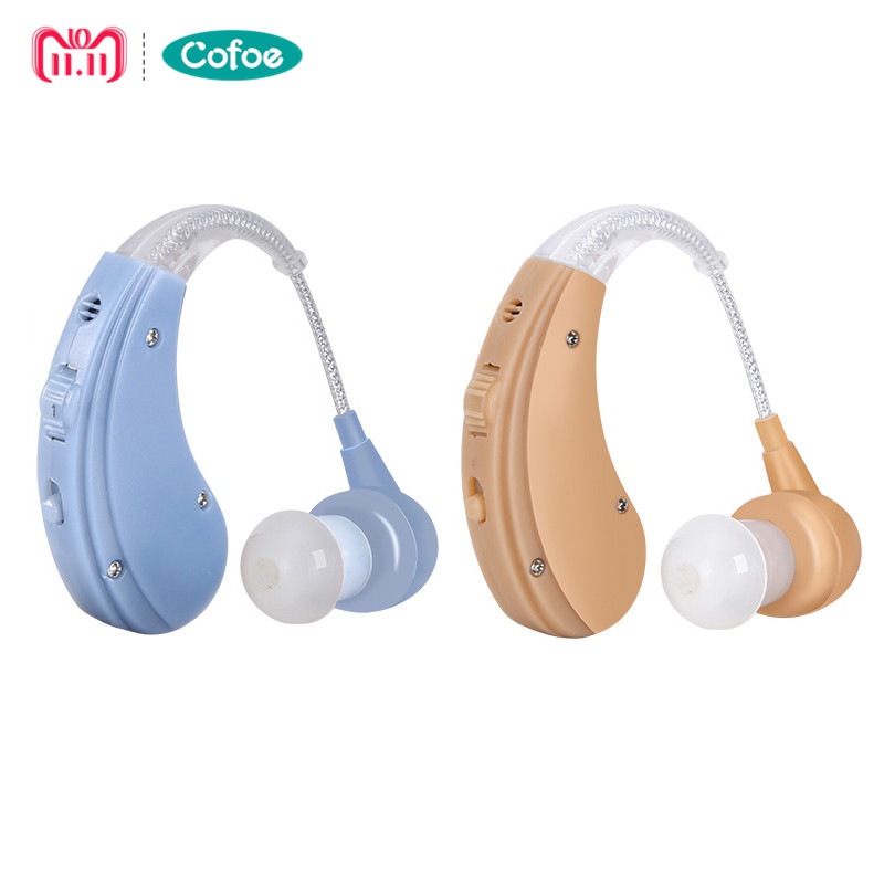Cofoe Ricaricabile BTE Hearing Aid per Gli Anziani/Perdita Dell'udito Amplificazione del Suono Dell'orecchio Strumenti di Cura 2 di Colore Regolabile Hearing aiuti