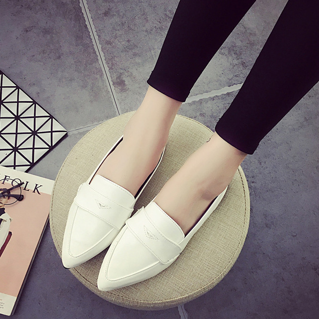 2016 Spring New Comfortable Boat Shoes Women Woman Office Career Soft Female Flat Womens Brand Las