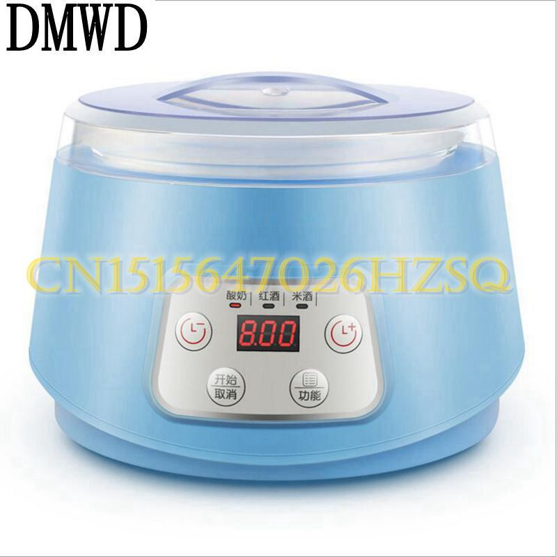 DMWD 20W household automatic multifunction Yogurt Maker Glass Liner Mini Yogurt Machine Kitchen Appliances Red wine/rice wine natto yogurt makers household fully automatic yogurt machine with glass liner timing rice wine machine 4 sub cup green