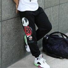 Брюки карго мужские повседневные размера плюс пуш-ап красочные панды узоры L-4XL свободные танцевальные шаровары Хип-хоп брюки