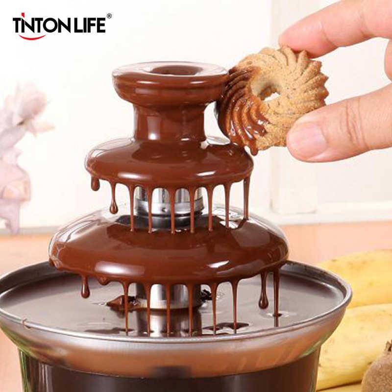 Tinton vida nova mini fonte de chocolate design criativo chocolate derretimento com aquecimento fondue máquina