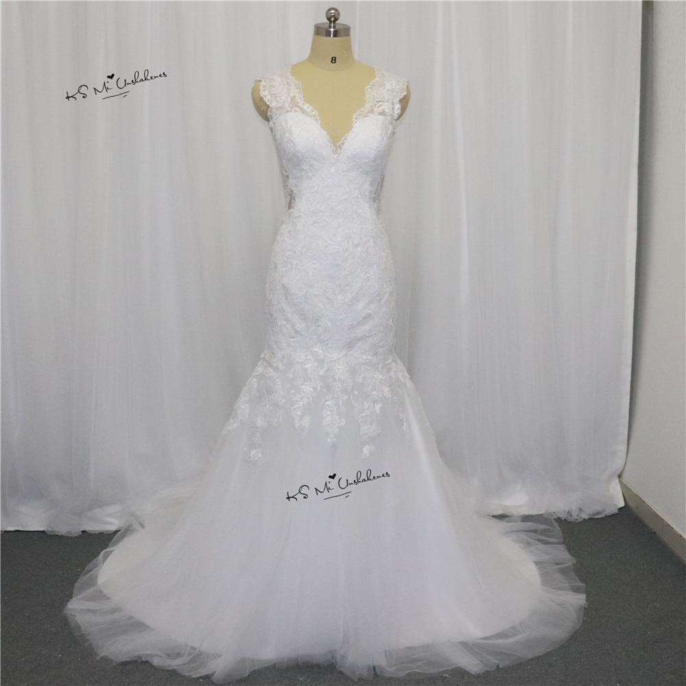 Thiết Kế mới nhất Boho Wedding Dress Mermaid Lace Bridal Dresses 2017 Vestido de Noiva Sereia Bàn Chải Train Wedding Gowns Gelinlik