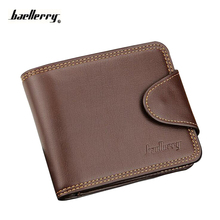 Wallet Men Credit Card Holder Money Bag Cash Hasp Zipper Famous Brand Male Purse PU Pocket Mini Short Maschio Fashion Wallets