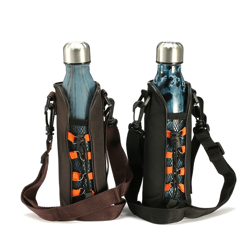 500 ML Nylonfaser Flaschenträger Kühltasche Wasserflasche Abdeckung ...