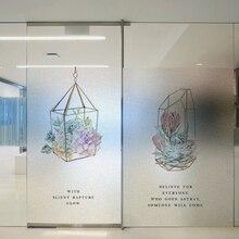 Window Films Static electricity reusable sticker window glass film transparent opaque Bathroom frost toilet B