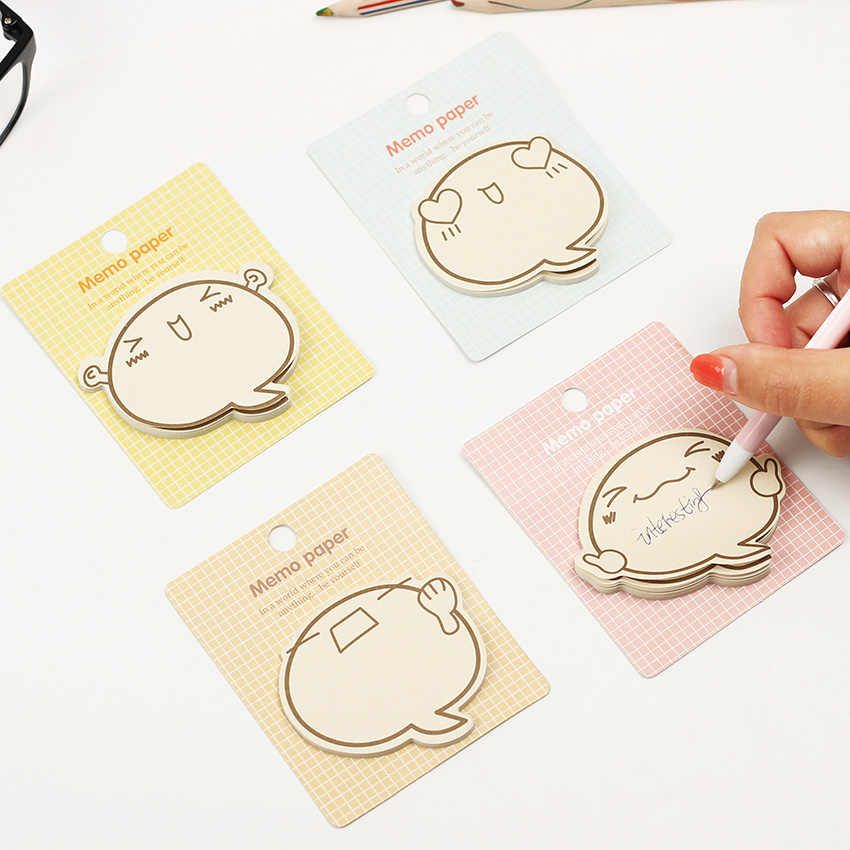 1PC น่ารัก Big Face N ครั้ง Notes Memo Pad กระดาษสติกเกอร์ Notepad ของขวัญเครื่องเขียน Escolar
