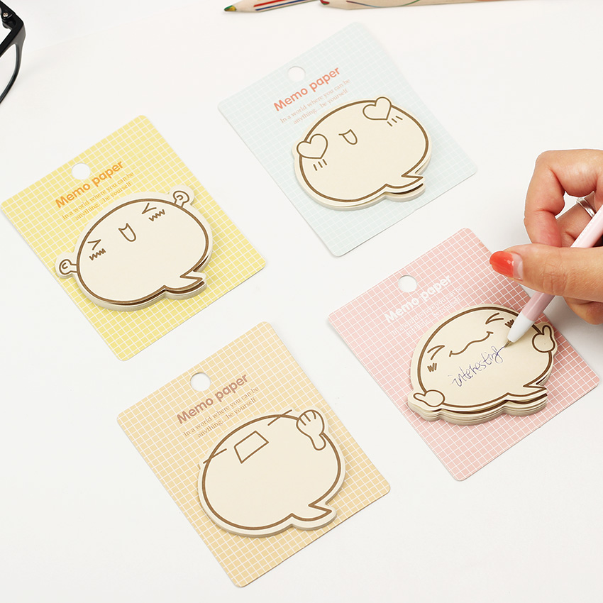1PC Cute Big Face N Times Sticky Notes Memo Pad Paper Sticker Notepad Gift Stationery Escolar gift n home