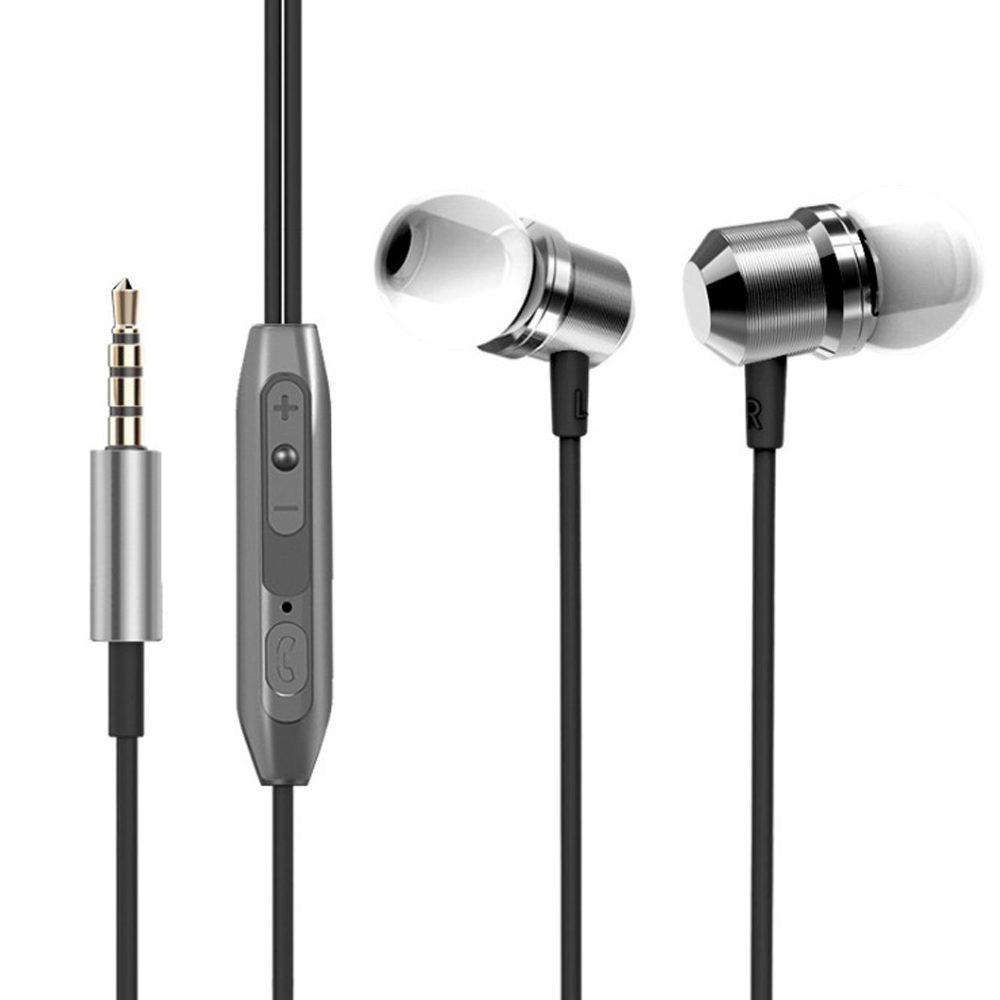 Universal Usage Magnetic absorption Magnet Metal Earphone headset with Mic for iPhone Xiaomi huawei Samsung in Phone Earphones Headphones from Consumer Electronics