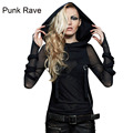New Punk Rave Emo Rockabilly Gothic Vintage Top Shirt Cotton Women fashion M XL 3XL