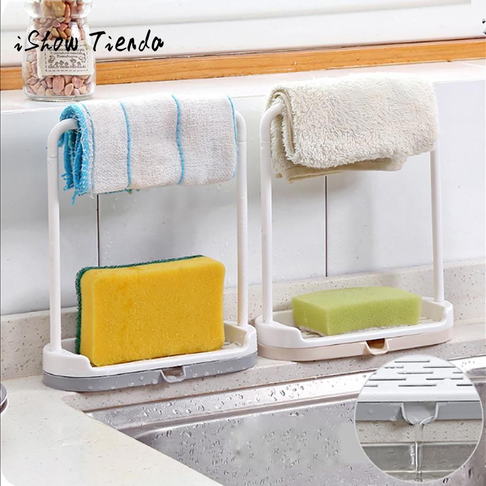 New Hanging Bathroom Kitchen Utensil Box Hot Rag Storage Rack Rangement De Comptoir De Cuisine #B0