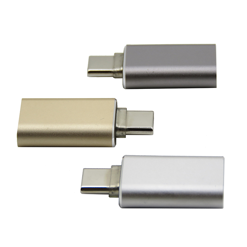 Type-C USB3.1 Revolving Type-C Usb3.1 Female Adapter Aluminum Shell Converter(China)