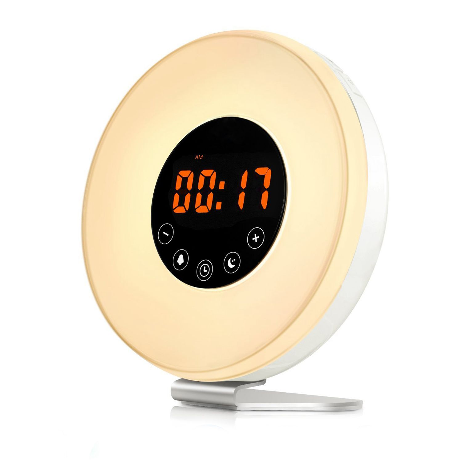 Digital Clock For Sale Us 23 26 11 Off Hot Sale Sunrise Alarm Clock Wake Up Light Digital Clock With 6 Natural Sounds Fm Radio 7 Color Night Light Easy Touch Cont In