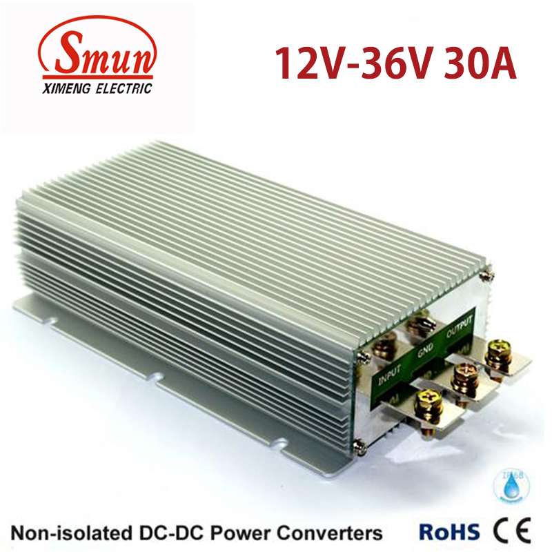 Waterproof IP68 12V to 36V 30A 1080W DC-DC Converter for Car and Vehicle