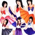 Verano vestidos para mujer 2016 ropa de Sailor Moon estilo Cosplay del vestido del traje para mujer vestidos oficina Sundress envío directo de