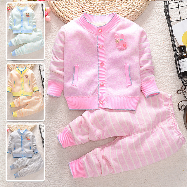 4dcc48e69f26 2018 Baby Girls Clothing Set Autumn Cardigan Baby Sweater +Pants ...