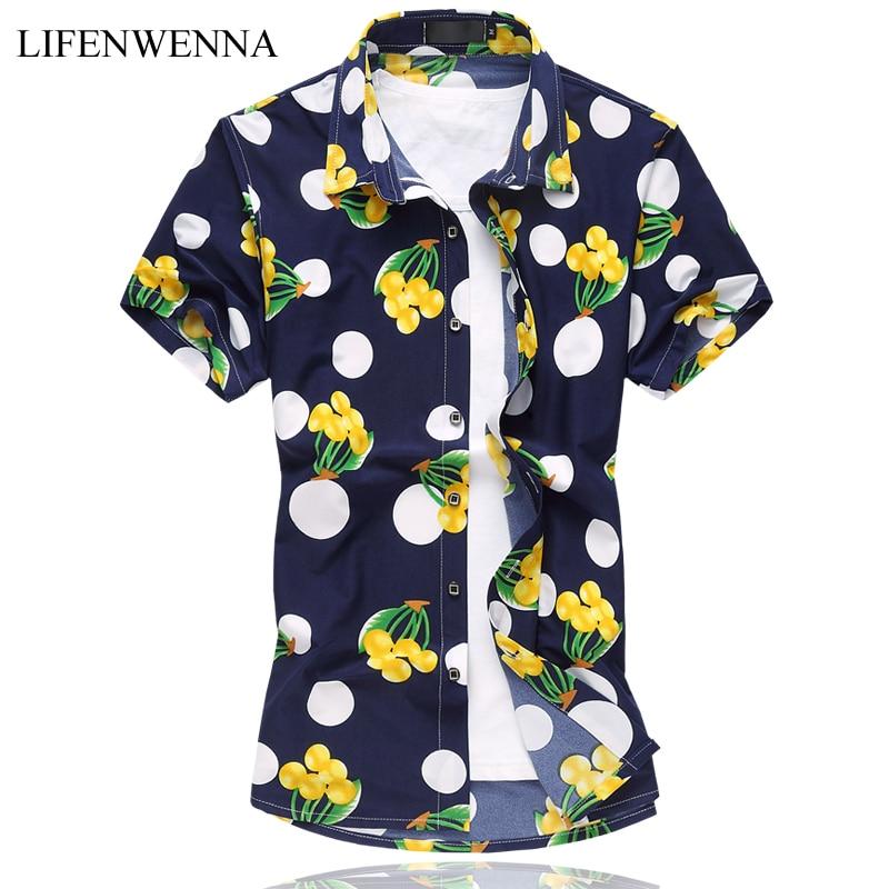 90e6282552d22c Nowy nabytek 2019 mężczyzna druku koszula mody koszula z krótkim ...