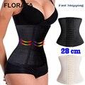 FLORATA Hot Moda Respirável Trainer Controle Cintura Tummy Cinturão Belt Corpo Shaper Underbust Espartilho Preto/Bege