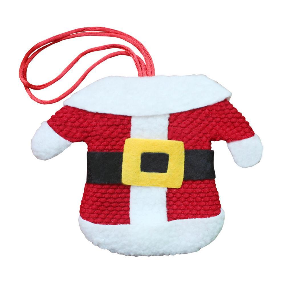Шляпа Санты, олень, Рождество, Год, карманная вилка, нож, столовые приборы, держатель, сумка для дома, вечерние украшения стола, ужина, столовые приборы 62253 - Цвет: H8