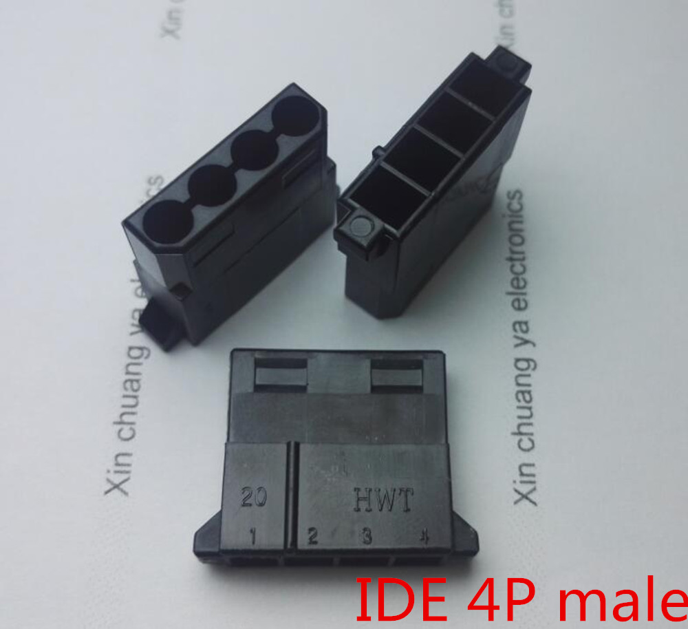 9d44b306f52ff موليكس أسود كبير 4 وعاء 4D الذكور على جهاز كمبيوتر شخصي ATX IDE موصل الطاقة  قذيفة من البلاستيك الإسكان