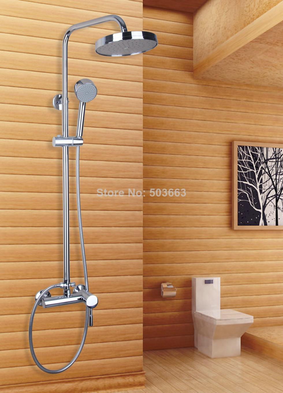 53201 Modern Bathroom Wall Mount Rain Shower Head Only Set Shower ...