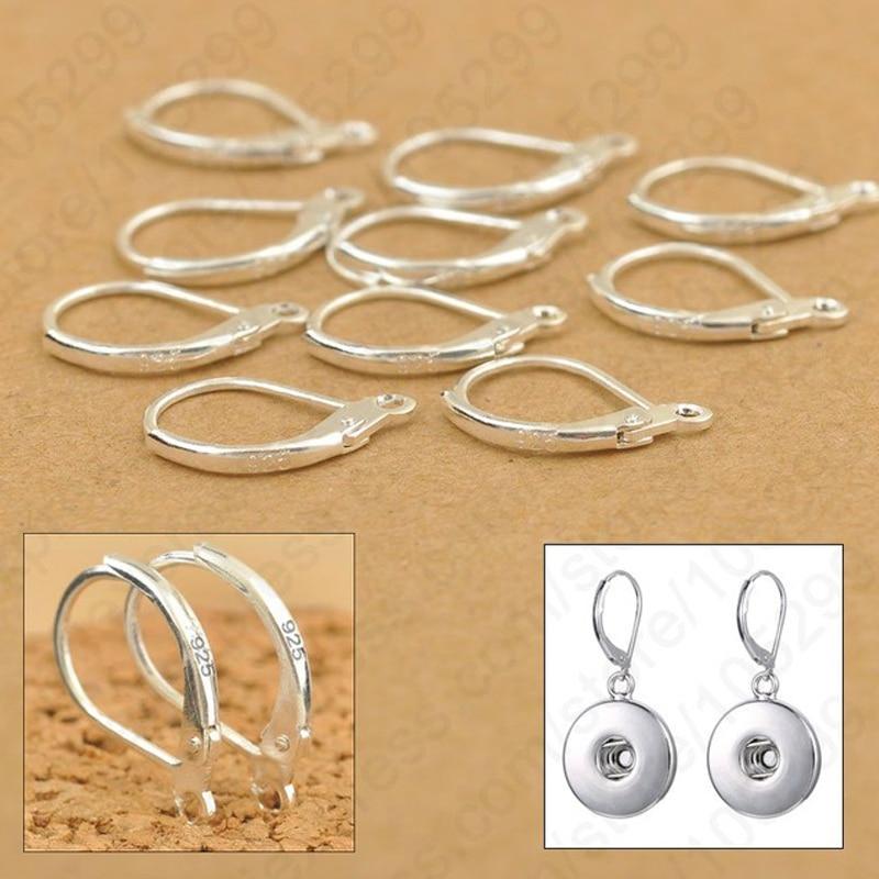 100PCS Earrings Jewelry Components 925 Sterling Silver Handmade Beadings Findings Earring Leverback Earwire Clasps&Hoo