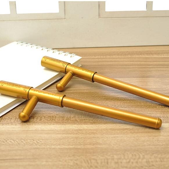 CF Game Weapons The Shape of the Gold Batons Simulation Model Creative Ball-Point Pen School Supplies 1pair ...