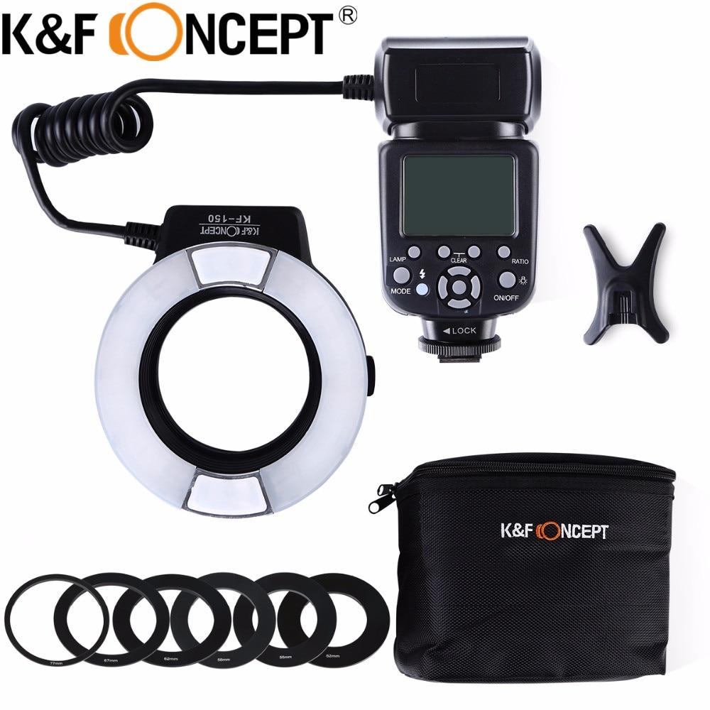 K F CONCEPT KF 150 N i TTL TTL Macro Ring Light LCD Display for Nikon