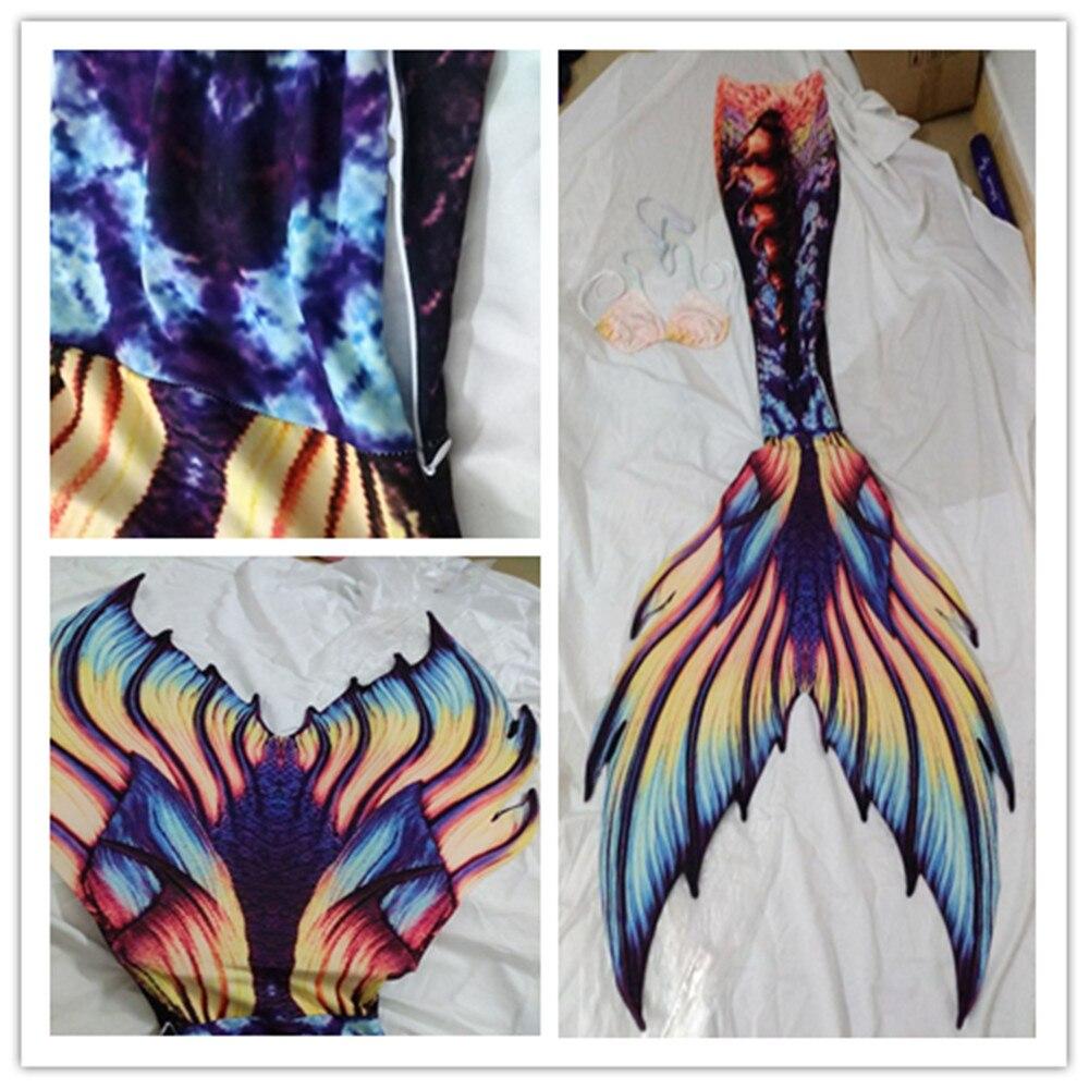 Queue de sirène personnalisée avec Monofin 3 pièces/ensemble maillot de bain de beauté palmé Performance Aquarium Super queue sirène femelle mâle sirène