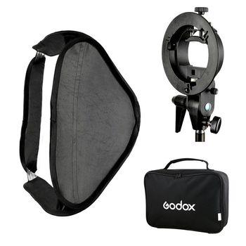 Godox 60x60cm Foldable Studio Softbox with S-Type Bracket Bowens Mount Holder
