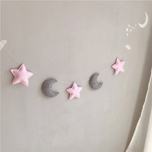 Baby Room Decor Baby Bumper For Newborns Moon Star Shaped Wall Hanging Tent Decoration Infant Sleeping Cot Bedding Sets New(China)