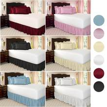 Bed Skirt Brushed Cloth Bed Cover without Bed Surface King Queen Size cubrecama Elastic Band Bed Skirts 38cm Bedspread Couvre Li(China)