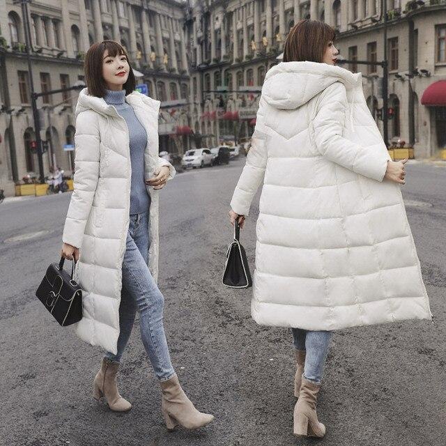 M-6XL новая зимняя куртка женская парка пальто Feminina длинный пуховик плюс Размеры с длинным капюшоном утка Пуховое пальто, куртка Для женщин