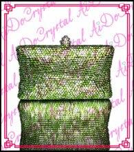 Aidocrystal handmade green pearls famous Chinese brand women's handbag  for wedding party
