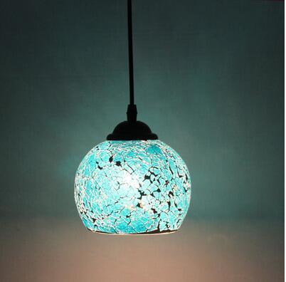 light continental retro bar entrance lamps club Pendant Lights Western-style restaurant art mosaic glass pendants lamp DF136