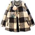 2017 Children's clothing autumn girls child plaid coats kids jackets baby outerwear fashion