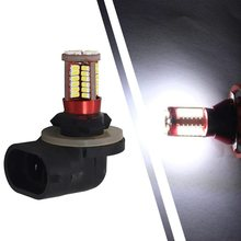 2pcs H27 Led 880 881 Automobiles Car Lights Bulb Car Fog Lamp 57 SMD 3014 Daytime Running Light Source Parking 12V 6000K(China)